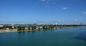 Miami Beach Florida veduta sull'orizzonte immagine stock libera da diritti