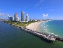 Miami Beach flyg- surrfoto Royaltyfri Foto