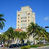 Miami Beach gammalt stadshus Fotografering för Bildbyråer