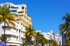 Miami Beach gatasikt Royaltyfri Fotografi