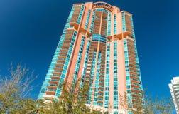Miami Beach-Gebäude an einem schönen Tag lizenzfreies stockbild
