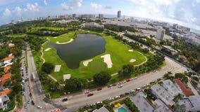 Miami Beach golf course 4k stock video footage