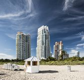 Miami Beach High Rises Royalty Free Stock Photos