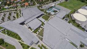 Miami Beach high school aerial stock video