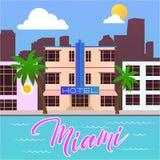 Miami beach hotel Stock Photos