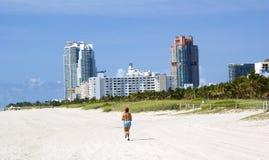 Miami beach hotels. Nice and sunny miami beach hotels Royalty Free Stock Photo