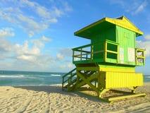 Miami Beach hus royaltyfri fotografi