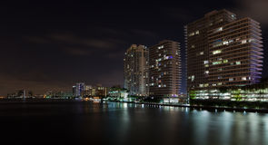 Miami Beach Inter Coastal Night Scene Royalty Free Stock Photo