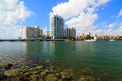 Miami Beach Inter Coastal Waterway Stock Images