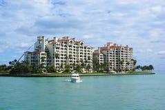 Miami beach island. Sunny and beatiful miami beach island Royalty Free Stock Photos