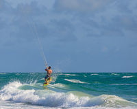 Miami Beach Kitesurfer Stock Photo