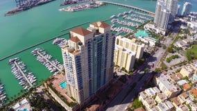 Miami Beach-Kondominien stock video footage