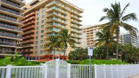 Miami Beach-Kondominien stock footage