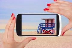 Miami Beach kort Arkivbilder