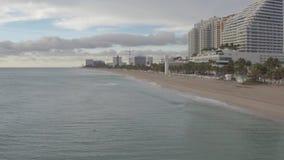 Miami Beach kustlinje arkivfilmer