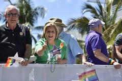 MIAMI BEACH, la FLORIDA, el 9 de abril de 2016 - orgullo gay fotos de archivo