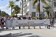 MIAMI BEACH, la FLORIDA, el 9 de abril de 2016 - orgullo gay fotografía de archivo