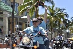 MIAMI BEACH, la FLORIDE, le 9 avril 2016 - fierté gaie photos libres de droits