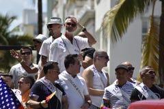 MIAMI BEACH, la FLORIDE, le 9 avril 2016 - fierté gaie images libres de droits