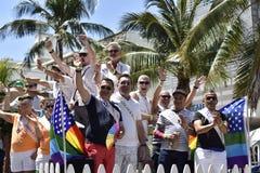 MIAMI BEACH, la FLORIDE, le 9 avril 2016 - fierté gaie photo libre de droits