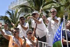 MIAMI BEACH, la FLORIDE, le 9 avril 2016 - fierté gaie image stock