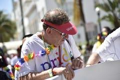MIAMI BEACH, la FLORIDE, le 9 avril 2016 - fierté gaie Photographie stock