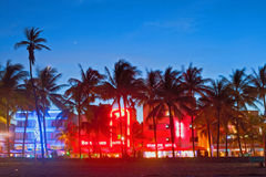 Miami Beach la nuit Image stock