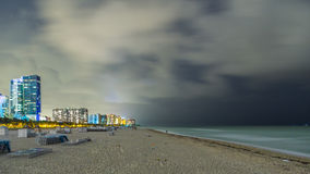 Miami Beach la nuit Image stock