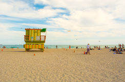 Miami Beach Life guard station Stock Images