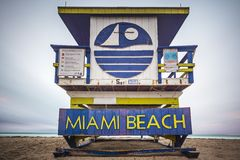 Miami Beach Lifegaurd-Turm Lizenzfreies Stockbild