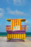 Miami Beach lifeguard house Royalty Free Stock Photo
