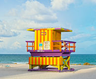 Miami Beach lifeguard house Royalty Free Stock Image