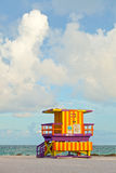 Miami Beach lifeguard house Royalty Free Stock Photos