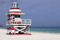 Miami Beach Lifeguard Stand Royalty Free Stock Image