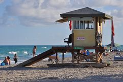 Miami Beach Lifeguard Station. In South Beach, Florida Royalty Free Stock Images