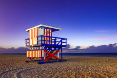 Miami Beach Lifeguard Tower Royalty Free Stock Photography