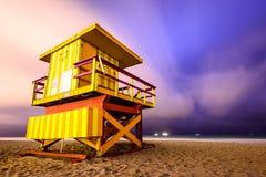 Miami Beach lifeguard tower Royalty Free Stock Photography