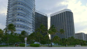 Miami beach living block rainy sky panorama 4k florida usa. Usa miami beach living block rainy sky panorama 4k florida stock footage