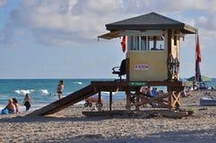 Miami Beach livräddare Station Royaltyfria Bilder