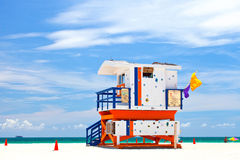 Miami Beach lugar tropical famoso do curso de Florida, EUA Imagens de Stock Royalty Free