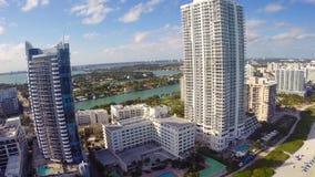Miami Beach luxury condominiums stock video
