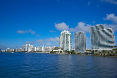 Miami Beach from MacArthur Causeway Florida Royalty Free Stock Photo