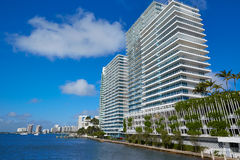 Miami Beach from MacArthur Causeway Florida Royalty Free Stock Photography