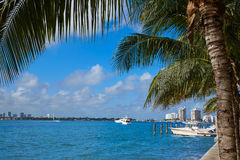 Miami Beach from MacArthur Causeway Florida Stock Images