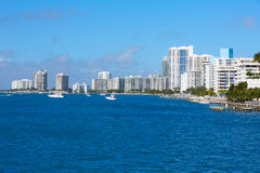 Miami Beach from MacArthur Causeway Florida Stock Photography