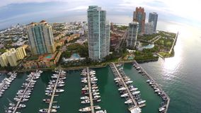 Miami Beach Marina & Yacht Club stock video