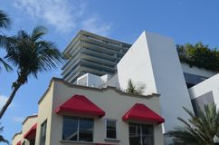 Miami Beach Modern Building Exterior Design Royalty Free Stock Images