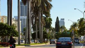 Miami Beach 52nd Street and Collins Avenue stock footage
