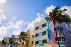 Miami Beach Ocean boulevard Art Deco Florida Royalty Free Stock Image