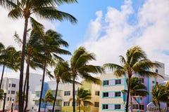 Miami Beach Ocean boulevard Art Deco Florida Royalty Free Stock Photos